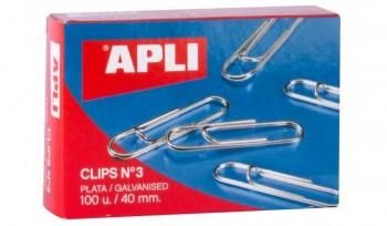 C/ CLIPS NIQUELADOS Nº 3 40MM APLI