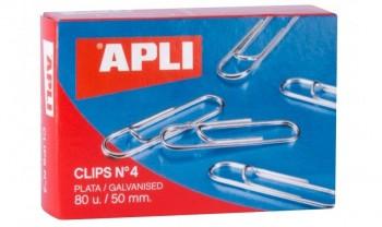 C/ CLIPS NIQUELADOS Nº 4 50MM APLI
