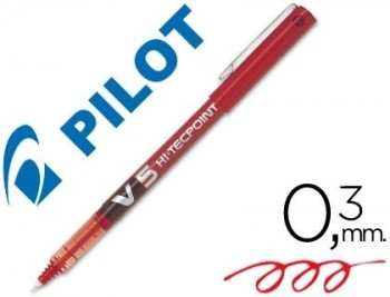 ROTULADOR PILOT PUNTA AGUJA V-5 ROJO 0.5 MM