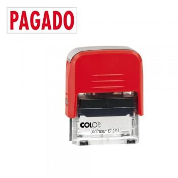 SELLO AUTOMATICO FORMULA COLOP PRINTER C20 38X14 MM \cPAGADO\c