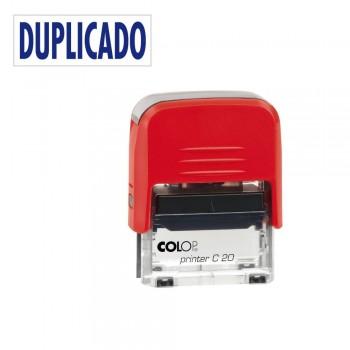 SELLO AUTOMATICO FORMULA COLOP PRINTER C20 38X14 MM \cDUPLICADO\c