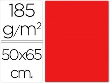 CARTULINA 50X65 185 G. ROJA