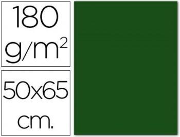 CARTULINA 50X65 185 G. VERDE ABETO