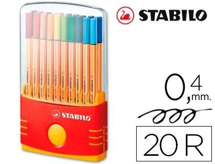 ESTUCHE 20 ROTULADOR STABILO POINT 88 COD. 43408