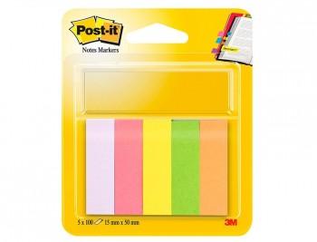 BLOC DE NOTAS ADHESIVAS QUITA Y PON POST-IT 15 X 50 MM COLORES SURTIDOS MININOTAS 670/5 COD. 38986