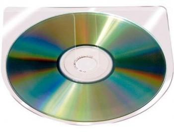 FUNDA AUTOADHESIVA PARA CD Q-CONNECT SIN SOLAPA PACK DE 10 UNIDADES COD 46169