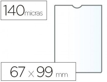 C/ 100 FUNDAS PORTACARNETS 65Q 67X98 MM PVC TRANSPARENTE 140 MICRAS ESSELTE RF. 46002