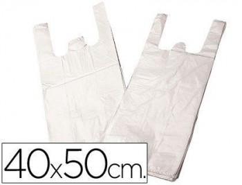 BOLSA PLASTICO CAMISETA 40X50 CM -PAQUETE 200 15 MICRAS COD. 28096