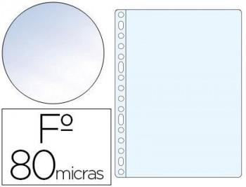 C/ 100 FUNDAS POLIPROPILENO FOLIO CRISTAL 11 TALADROS ESSELTE RF. 46106