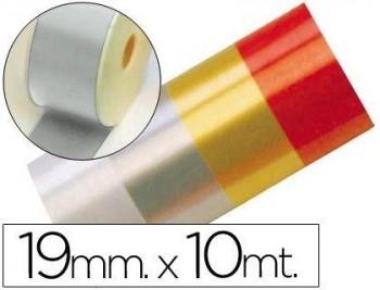 CINTA FANTASIA 10 MT X 19 MM PLATA COD 16279