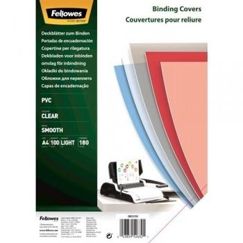 P/ 100 TAPAS ENCUADERNAR PLASTICO TTE 180A-4  FELLOWES 5375901