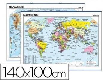MAPA MURAL MUNDI PLANISFERIO -140 X 100 CM COD 04914