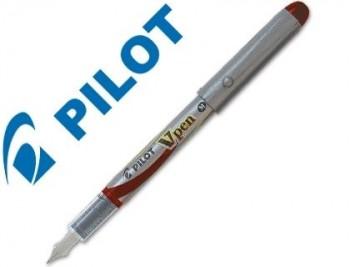PLUMA PILOT V PEN SILVER DESECHABLE ROJO SVP-4WR COD. 43087
