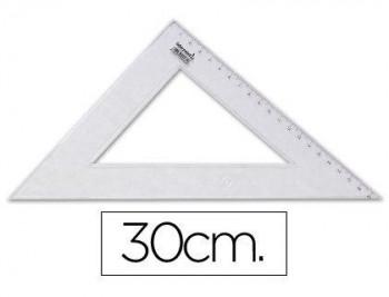 ESCUADRA LIDERPAPEL 30 CM PLASTICO CRISTAL COD. 20432