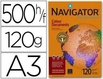 P/ PAPEL 500 H. DIN A3 NAVIGATOR COLOUR DOCUMENTS 120 GRS