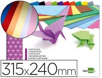 BLOC TRABAJOS MANUALES LIDERPAPEL CARTULINA 240X315MM 10 HOJAS COLORES SURTIDOS COD 00757