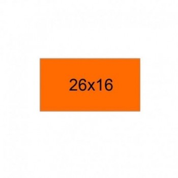 PACK 10 ROLLOS 1.000 ETIQUETAS 2616 FLUOR NARANJA PERMANENTE