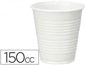 VASO DE PLASTICO BLANCO 150CC PARA MAQUINAS DE VENDING DE CAFE PAQUETE DE 100 COD 49268