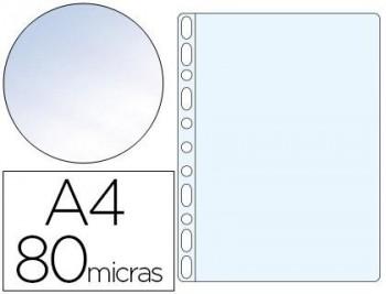 C/ 100 FUNDAS POLIPROPILENO DIN A4 CRISTAL 11 TALADROS ESSELTE RF. 46108