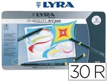 ROTULADOR LYRA HI-QUALITY CAJA METALICA 30 COLORES COD 51952