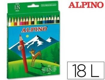 LAPICES DE COLORES ALPINO 656 C/ DE 18 COLORES LARGOS COD 28328
