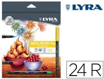ROTULADOR LYRA AQUA BRUSH DUO CAJA DE 24 COLORES COD 51951