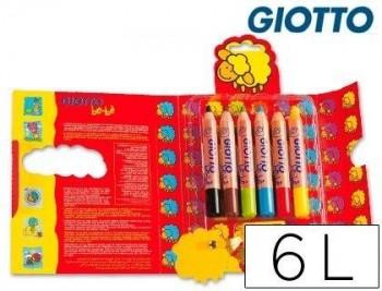 LAPICES DE COLORES GIOTTO BEBE CAJA DE 6 LAPICES COD 36354