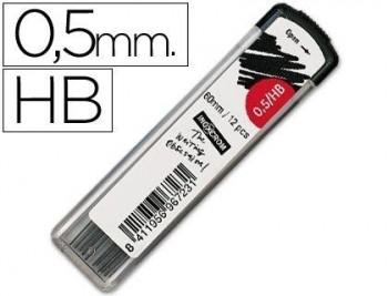 MINAS INOXCROM GRAFITO DE 0,5 MM HB -ESTUCHE DE 12 MINAS COD 4968