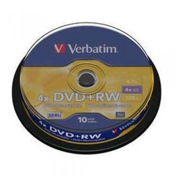 TARRINA 10 DVD+RW 4,7 GB 4X VERBATIM 43488