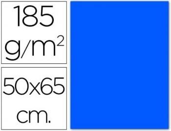 CARTULINA 50X65 185 G. AZUL MAR