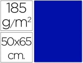 CARTULINA 50X65 185 G. AZUL ULTRAMAR