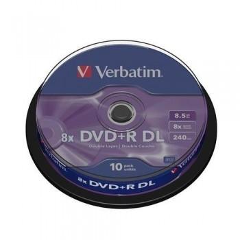 TARRINA 10 DVD+R DL 8,5 GB VERBATIM
