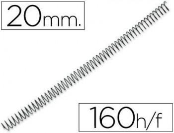 C/ 100 ESPIRALES METALICOS Nº 20 PASO 64 5:1 NEGRO IBICO - GBC
