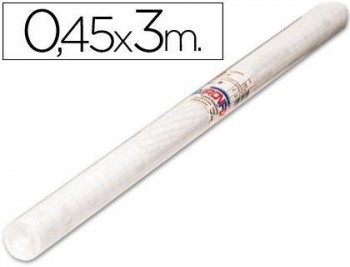ROLLO ADHESIVO AIRONFIX TRANSPARENTE REMOVIBLE 69614 ROLLO 0,45 X 3MT COD 31541