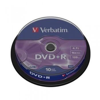 TARRINA 10 DVD+R VERBATIM 4.7GB 16X