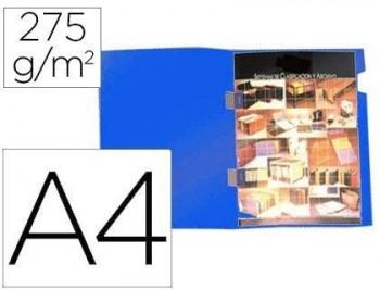 P/ 25 SUBCARPETAS PLASTIFICADAS GIO DIN A4 AZUL CON CUBRE GRAPAS 275 G/M RF 400042268