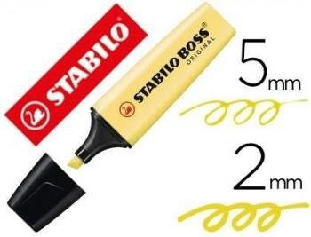 ROTULADOR STABILO BOSS PASTEL FLUORESCENTE 70 AMARILLO CREMOSO COD 64346