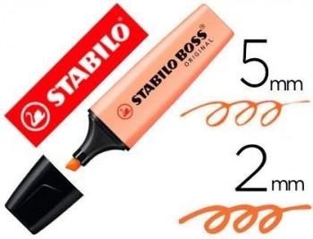 ROTULADOR STABILO BOSS PASTEL FLUORESCENTE 70 MELOCOTON SEDOSO COD 64347