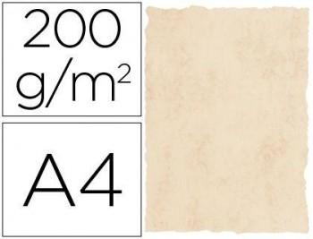 PAPEL PERGAMINO DIN A4 200 GR COLOR MARMOL BEIGE PAQUETE DE 25 HOJAS COD 58922  MICHEL