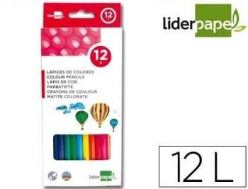 C/ 12 LAPICES DE COLORES LIDERPAPEL COD 34245