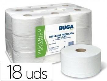 PAPEL HIGIENICO INDUSTRIAL GOFRADO BUGA RECICLADO 2 CAPAS 130 M COD 76247