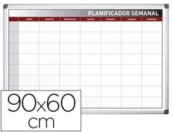 PLANNING ROCADA SEMANAL MAGNETICO ROTULABLE MARCO DE ALUMINIO 90X60 CM COD 78255