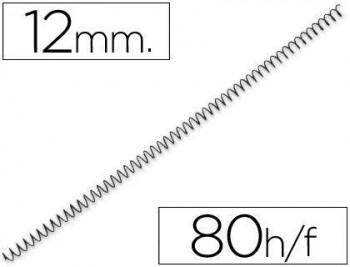 C/ 100 ESPIRALES METALICOS Nº 12 PASO 64 5:1 NEGRO GBC