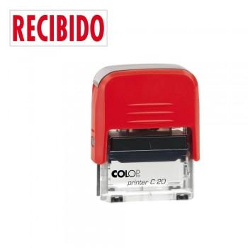 SELLO AUTOMATICO FORMULA COLOP PRINTER C20 38X14 MM \cRECIBIDO\c