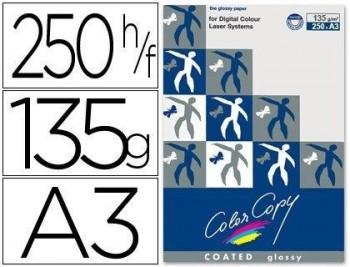 PAPEL FOTOCOPIADORA COLOR COPY GLOSSY DIN A3 135 GRAMOS PAQUETE DE 250 HOJAS COD 32444