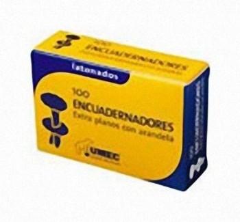 CAJA 100 ENCUADERNADORES CON ARANDELA 50 MM UMEC