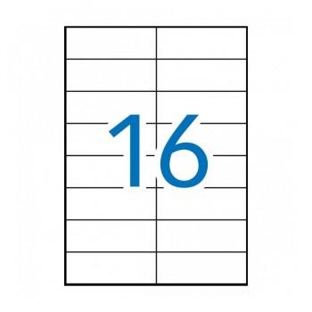 C/ 100 H. ETIQUETAS 105X37 EXTRA FUERTES APLI RF 11783