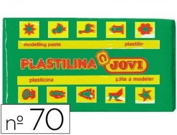 PLASTILINA JOVI 70 VERDE CLARO -UNIDAD -TAMAÑO PEQUEÑO COD 22118