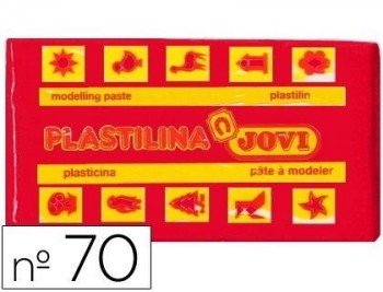 PLASTILINA JOVI 70 ROJO -UNIDAD -TAMAÑO PEQUEÑO COD 22122