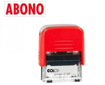 SELLO AUTOMATICO FORMULA COLOP PRINTER C20 38X14 MM \cABONO\c